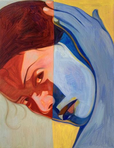 Inès Longevial, 'Big Domino Orange Blue', 2021