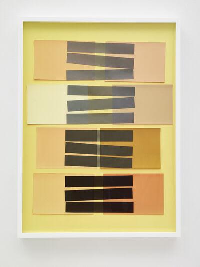 Vik Muniz, 'Handmade: Interaction of Color 24 (Rectangles, Black Stripes)', 2017