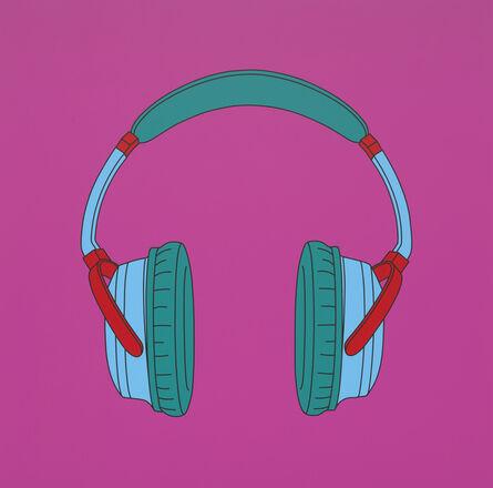 Michael Craig-Martin, 'Untitled (Headphones)', 2014