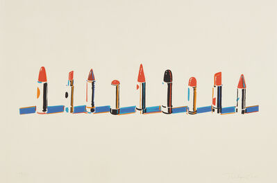 Wayne Thiebaud, 'Lipstick Row, from Seven Still Lifes and a Rabbit', 1970
