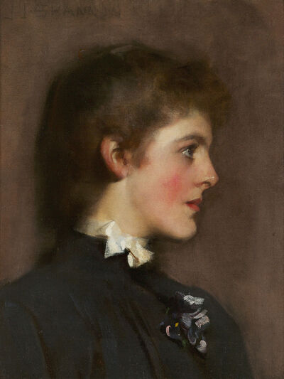 James Jebusa Shannon, 'Portrait of a Young Woman', ca. 1889