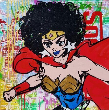 Skyler Grey, 'Wonder Woman Red Yellow', 2016