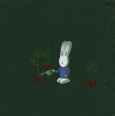 Atsushi Kaga, 'Usacchi Watering The Plants', 2014