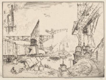 Joseph Pennell, 'Cranes at Duisburg', 1910