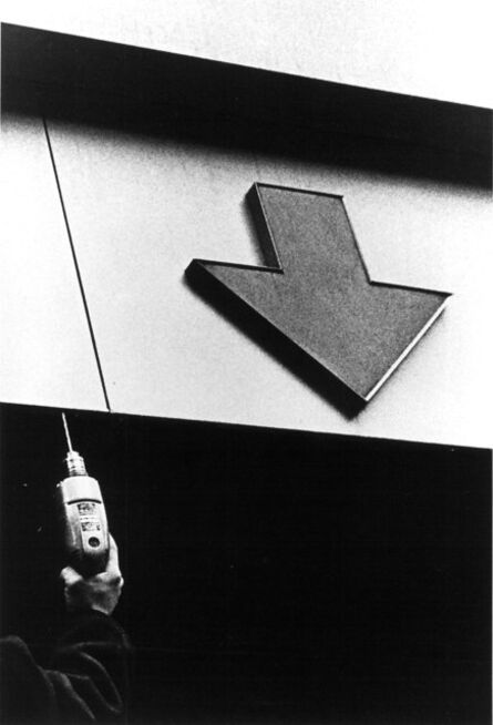 Ralph Gibson, 'Untitled (building exterior with arrow pointing down)', 1968