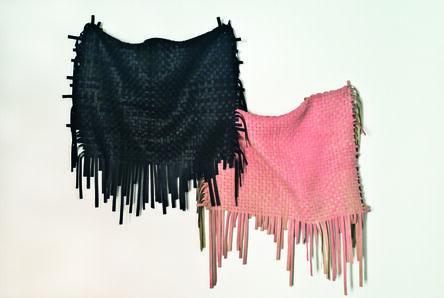 Ana Roldán, 'Sculpture 1 (Tissue) Pink/Black', 2018