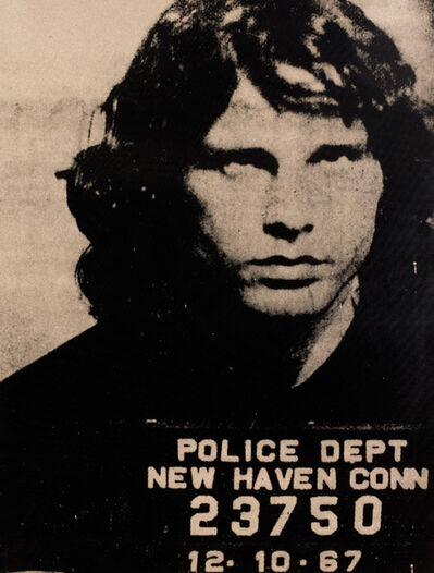 Russell Young, 'Jim Morrison- Atomic Gold & Black', 2007