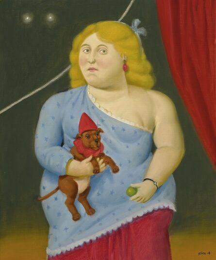Fernando Botero, 'Circus woman with dog'