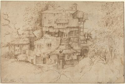 Circle of Giorgione, 'Rustic Houses Built among Ruins', 1510/1513