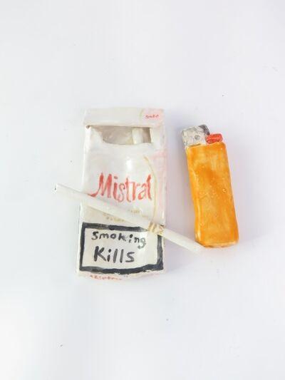 Rose Eken, 'Cigarette, Mistral Cigarette Pack and Lighter ', 2015