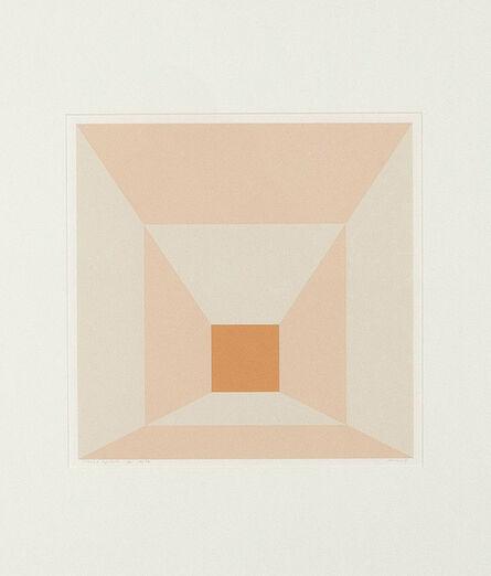 Josef Albers, 'Mitered Squares-Apricot ', 1976