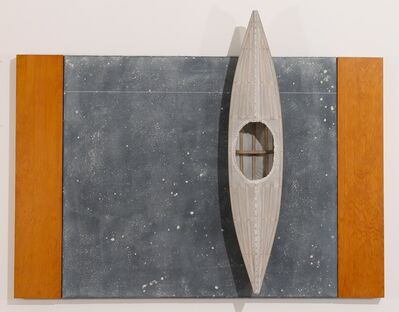 David Ruddell, 'Blackboard, Two Fir Strips, White Boat', 2013