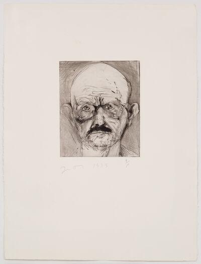 Jim Dine, 'Unique Hand Painted Self Portrait,', 1979