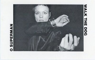 Laurie Anderson, 'One Ten Records, Laurie Anderson, O Superman Walk The Dog, Card', 1982