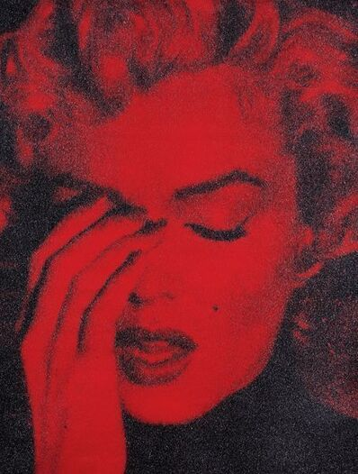 Russell Young, 'Marilyn Crying (Candy Apple Red + Black) GX2013', 2013