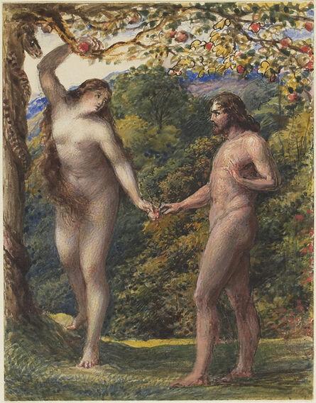 John Linnell, 'Eve Offering the Forbidden Fruit to Adam', 1830-1835