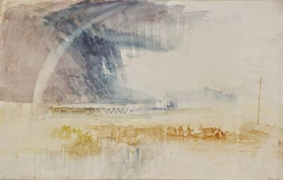 J. M. W. Turner, 'Rainbow Among Purple and Blue Clouds', 1840-1845