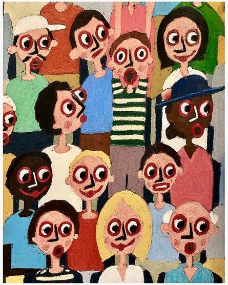 James Eddy, 'Spectators', 2021