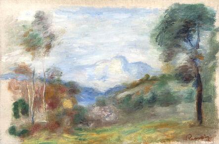 Pierre-Auguste Renoir, 'Vallée de la Cagnes, le Baou de Saint-Jeannet', Painted in 1905.