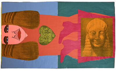 Larry Lewis, 'Untitled (Colossal Woman: Birth of a Nation) - Mixed Media Collage Book Detail', ca. 1970