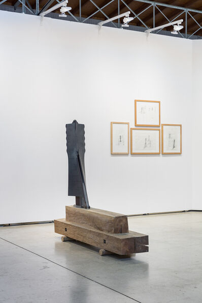 Walter Pichler, 'Frau aus Metall, Skulptur und 13 Zeichnungen', 1990