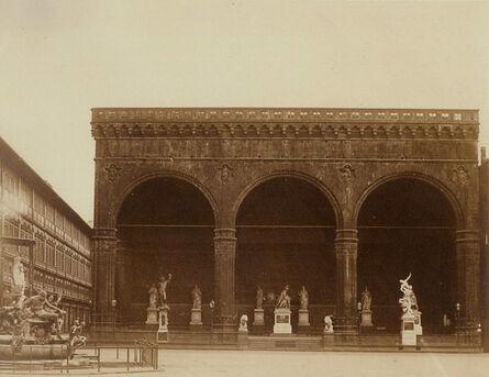 John Brampton Philpot, 'Loggia dei Lanzi, Florence, Italy', 1856/1850s