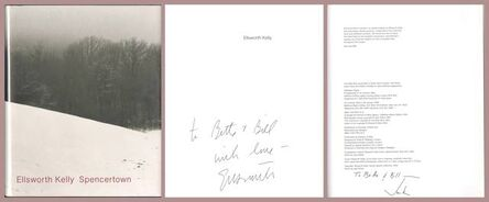 Ellsworth Kelly, 'Spencertown, Hand signed and inscribed by Ellsworth Kelly, signed and inscribed by Jack Shear to collectors and MOMA donors', 1994