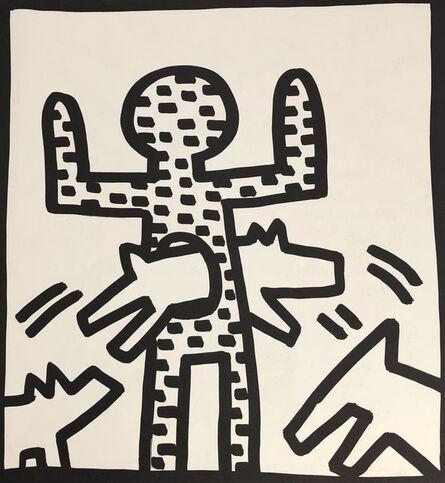 Keith Haring, 'Keith Haring (untitled) man dog lithograph 1982', 1982