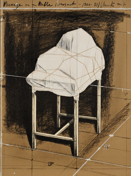 Christo, 'Package on a Table, Project (S. 142)', 1989