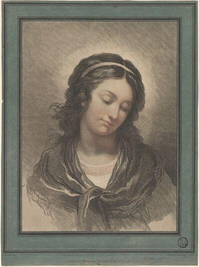 Gilles-Antoine Demarteau after François-André Vincent, 'Head of a Woman Looking Down', ca. 1788