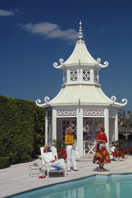 Slim Aarons, 'Palm Beach Pagoda, Everglades Island (Slim Aarons Estate Edition)', 1985