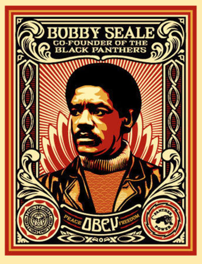 Shepard Fairey, 'Bobby Seale Stamp', 2004