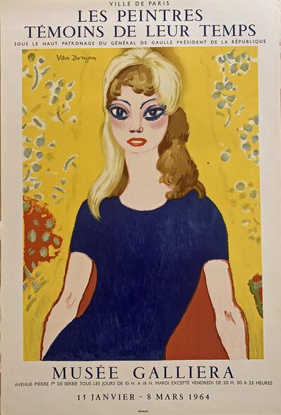 Kees van Dongen, 'Brigitte Bardot, Musée Galliéra', 1964