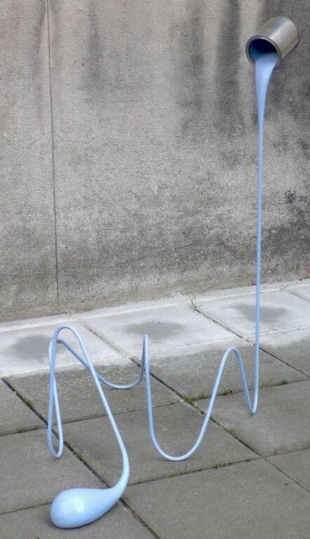 Markus Hofer, 'Liquid drawing blue', 2016