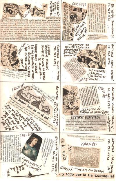 "Batato Barea, 'Untitled, (Flyer/ collage for ""Freedom Disco"" and ""Crash Disco"").', 1988"
