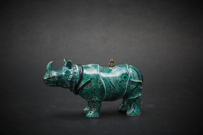 Kensuke Fujiyoshi, '22. Small Rhino (green)', 2017