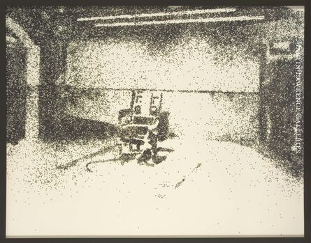 Vik Muniz, 'Electric Chair (Pictures in Glitter - After Warhol)', 2001