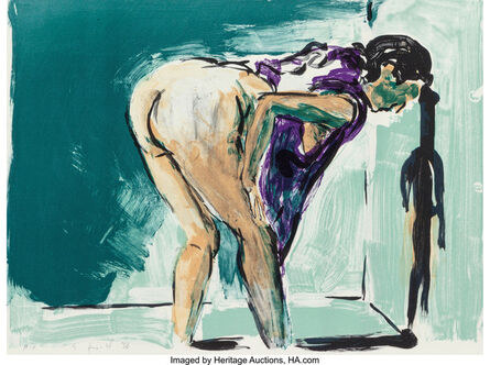 Eric Fischl, 'Anniem Gwen, Lilly, Pam and Tulip (Bending Woman in Purple) (two works)', 1987