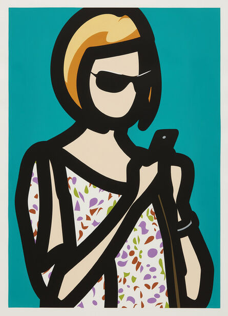 Julian Opie, 'Tourist with Blouse, from Tourists', 2014