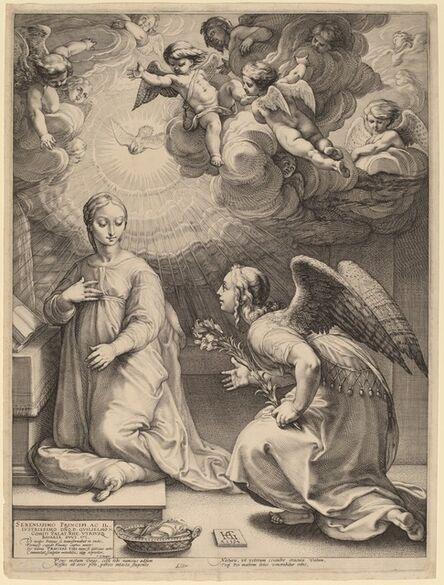 Hendrik Goltzius, 'The Annunciation', 1594