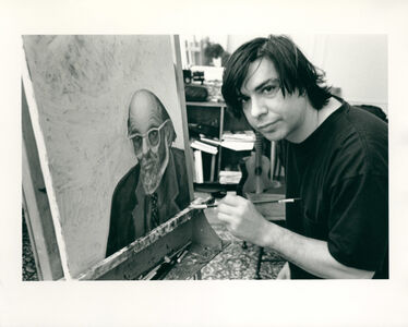 Allen Ginsberg, 'George Condo painting my portrait NYC, January 12, 1995', 1995