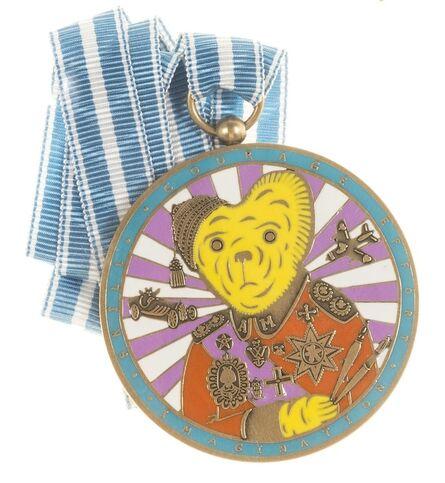 Grayson Perry, 'Teddy Bear Necklace Medal (Alan Measles)', 2018