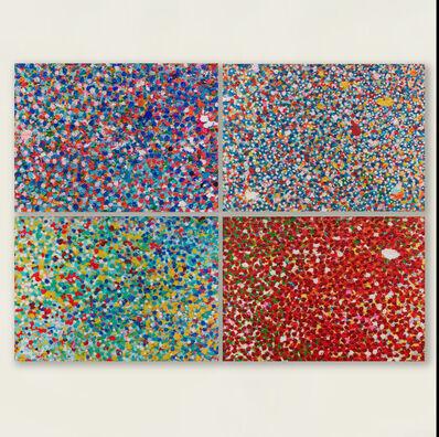 Damien Hirst, 'Veils (portfolio of 4), Clockwise: Nong Nooch, Kew, Ryoanji, Keukenhof', 2020
