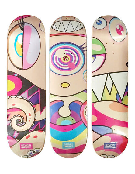 Takashi Murakami, 'Set Eyes, Nose, Mouth of 3 Skate Deck Dobtopus from Complexcon 2017', 2017