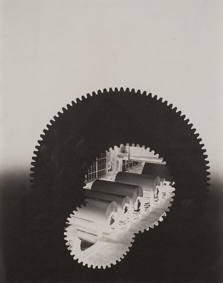 György Kepes, 'Gears, paper rolls, building', 1940-1941
