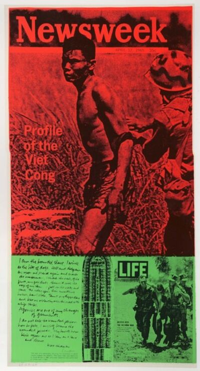 Corita Kent, 'news of the week', 1969