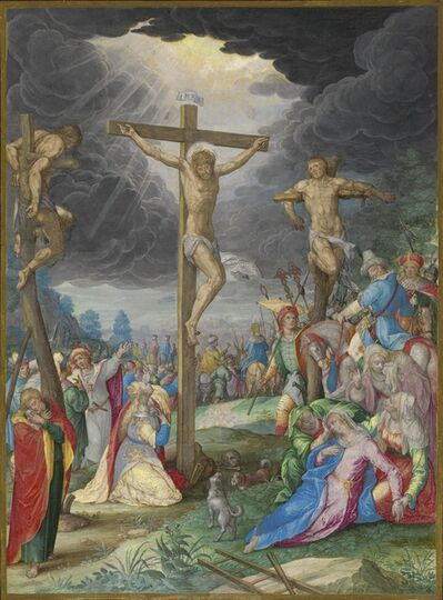 Friedrich Brentel after Aegidius Sadeler II after Christoph Schwarz, 'The Crucifixion', 1627