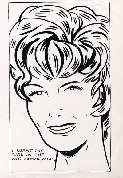 Raymond Pettibon, 'I Want To Be The Girl In The Wig Commercial', 1989