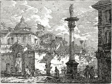 Giovanni Migliara, 'A Venetian Capriccio', 1815-1820