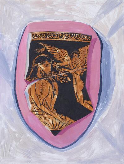 Anna Valdez, 'Fragment of Terracotta Skyphos on Studio Wall- Study', 2019